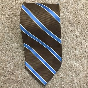 346 Brooks Brothers tie brown and blue striped